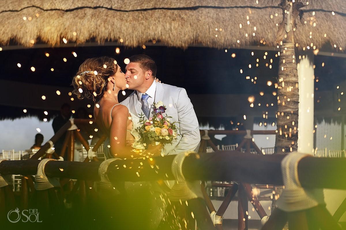 wedding celebration fireworks destination wedding Hard Rock Hotel Riviera Maya, Mexico