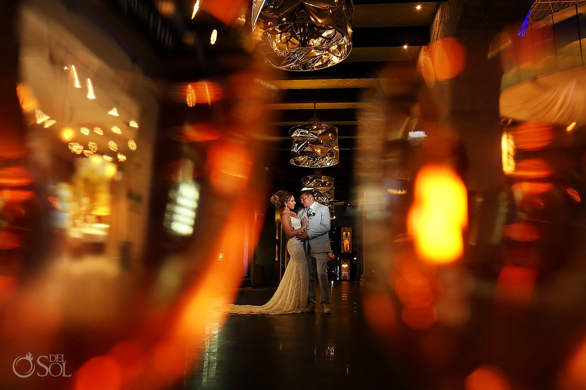 Artistic wedding portrait Destination Wedding Hard Rock Hotel Riviera Maya