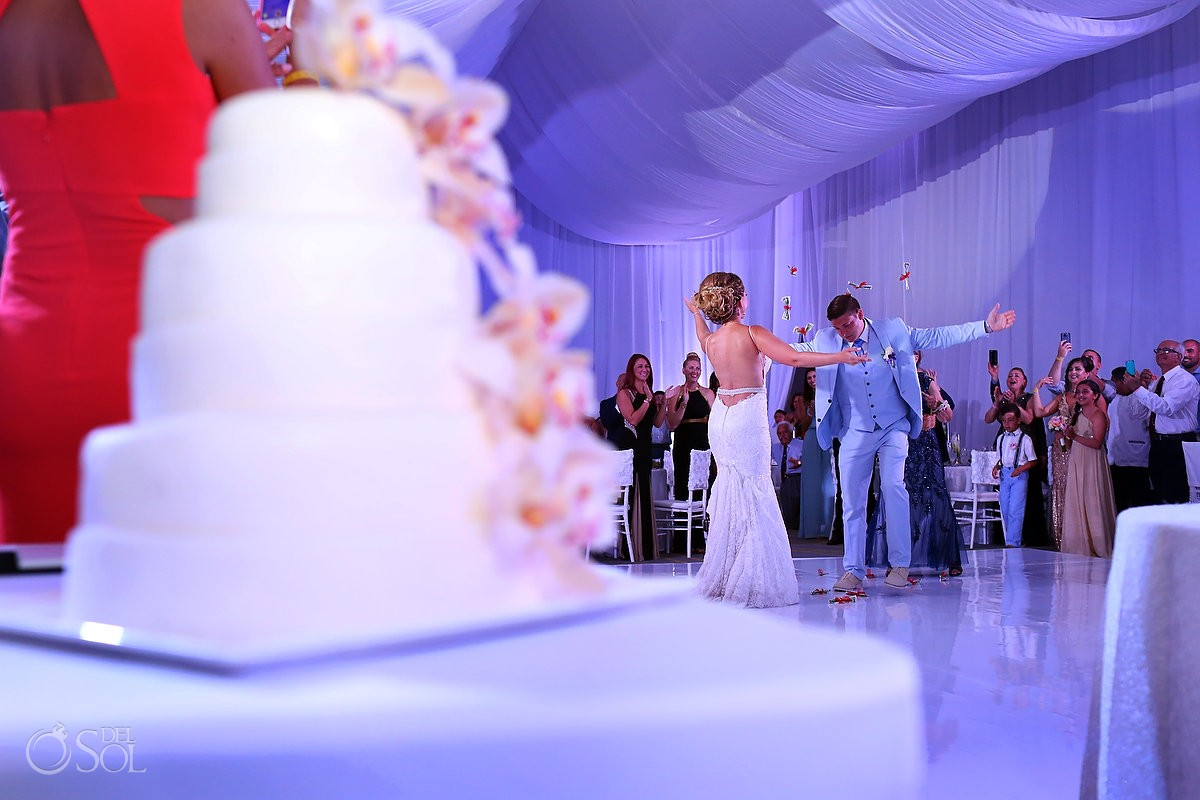 Hard Rock San Charbel chapel wedding reception cake