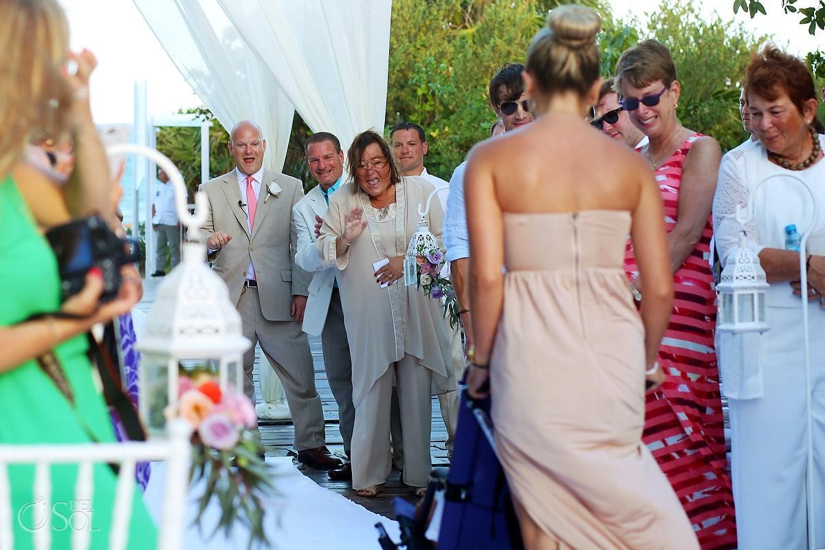 first look for destination wedding in paradisus playa del carmen mexico