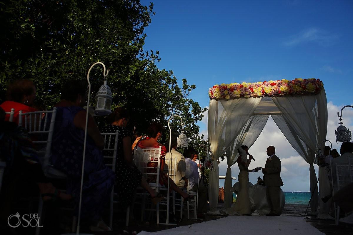 destination wedding ceremony at paradisus playa del carmen
