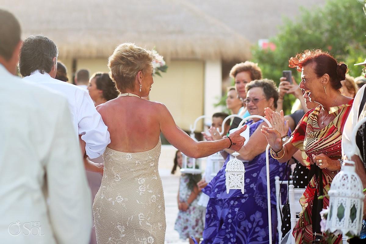 wedding recessional at paradisus playa del carmen