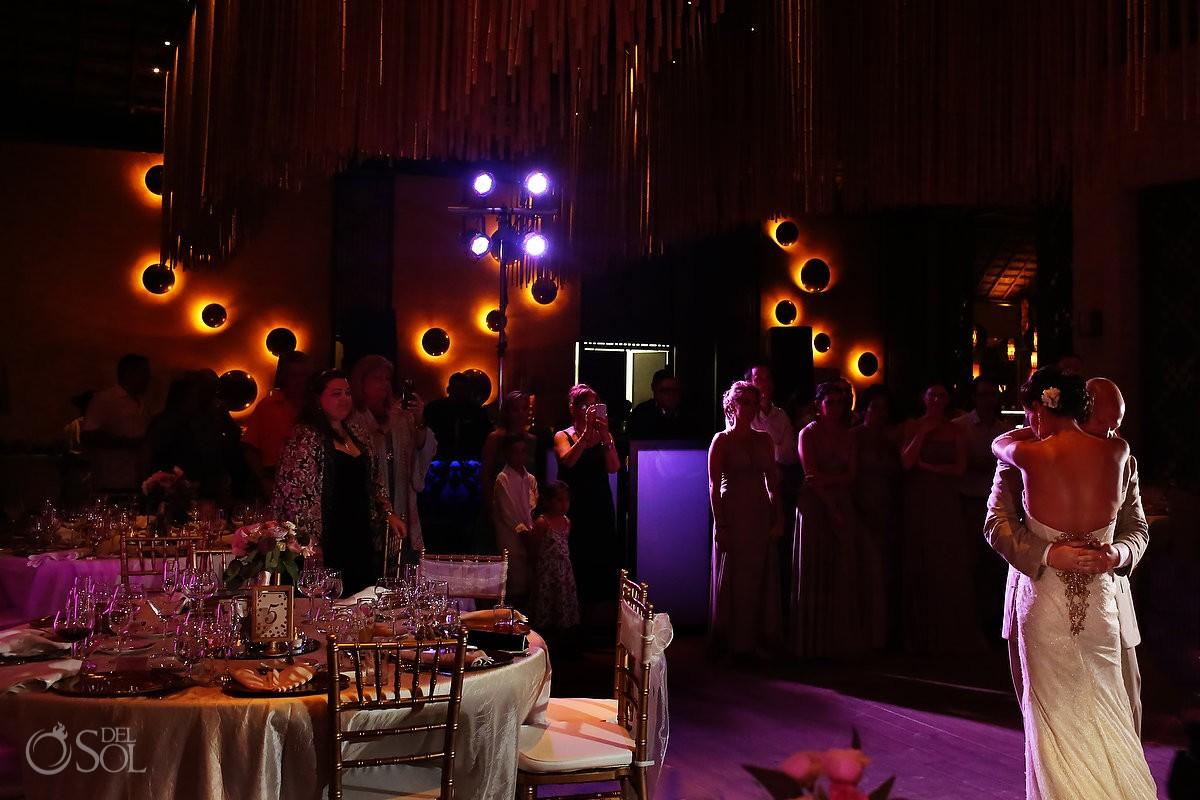paradisus esmeralda bride and groom dance at the reception