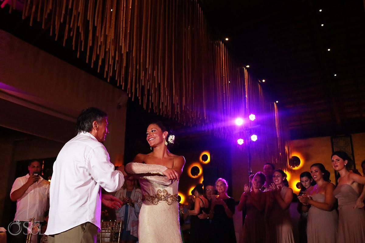 paradisus esmeralda bride and groom wedding reception