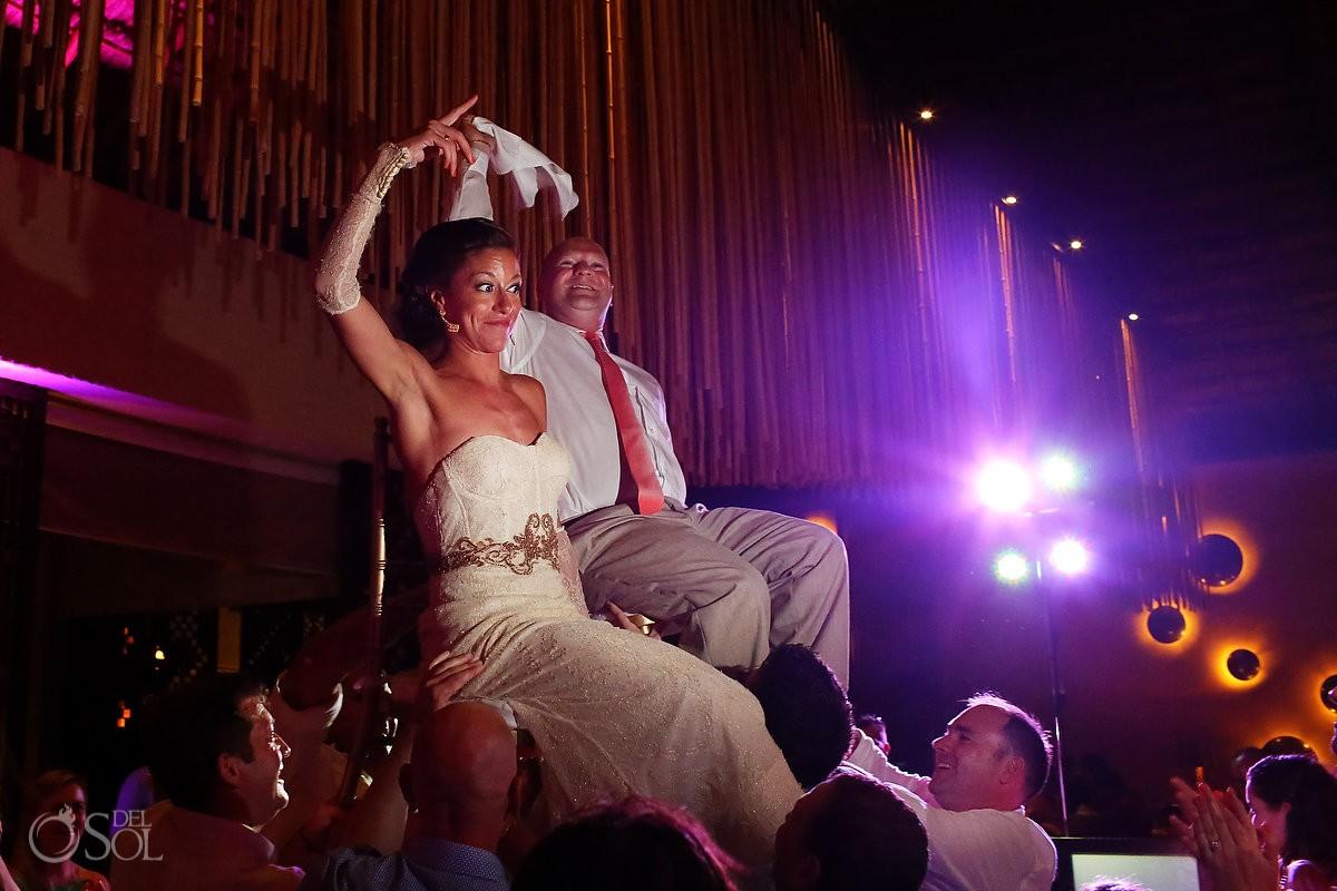 wedding hora dance at paradisus esmeralda