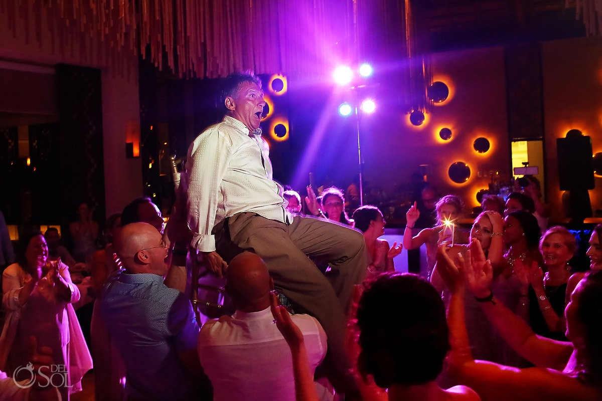 hora dance at destination wedding at paradisus hotel
