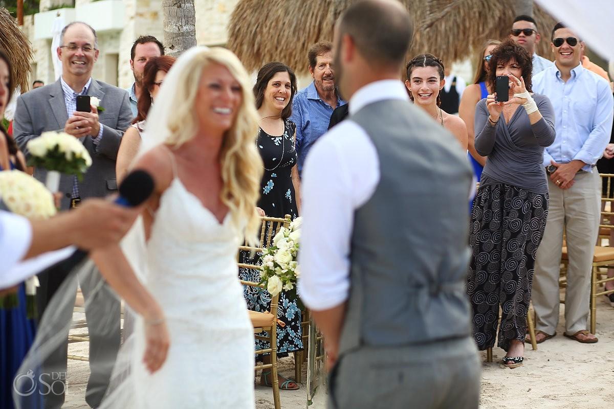 happy wedding guests destination wedding Secrets Akumal, Riviera Maya, Mexico