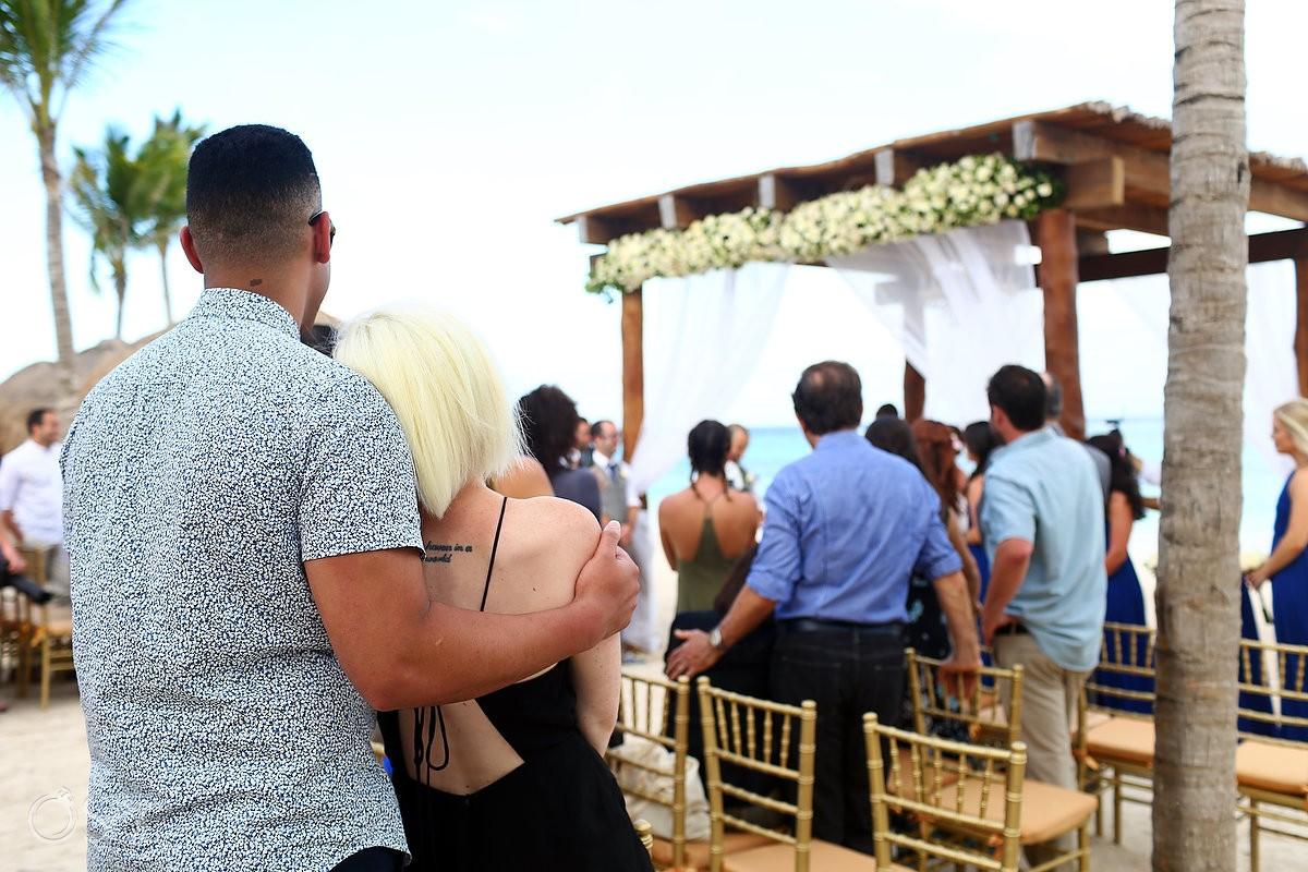 love watching love, beach wedding Secrets Akumal, Riviera Maya, Mexico