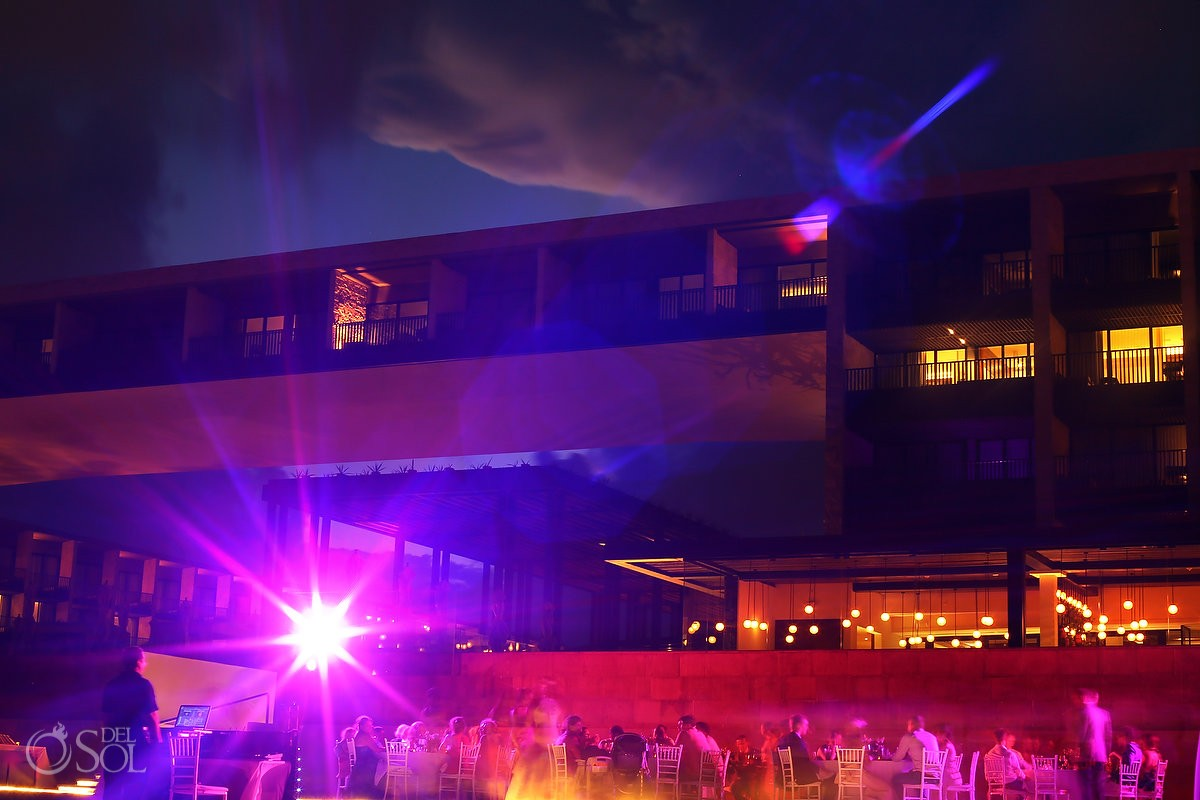 Destination Wedding Reception Pool deck Grand Hyatt Playa del Carmen