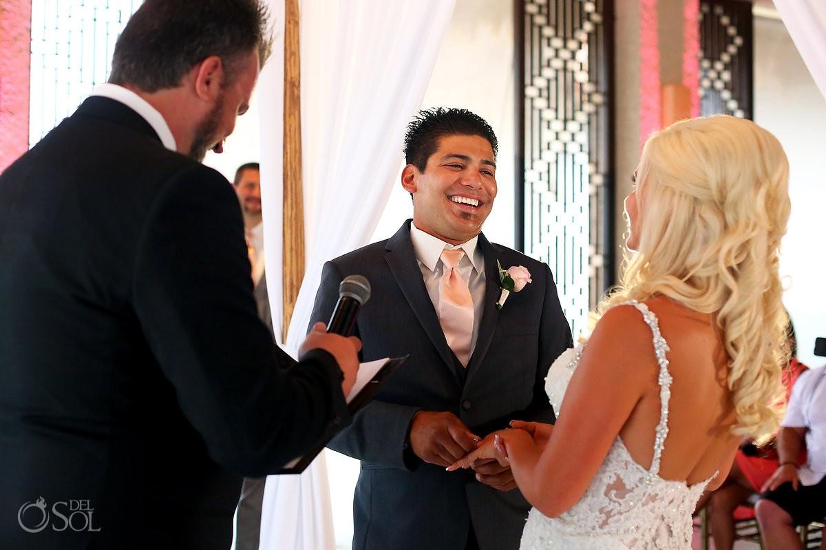 destination wedding alternate rain ceremony location Gabi Club Paradisus Playa del Carmen