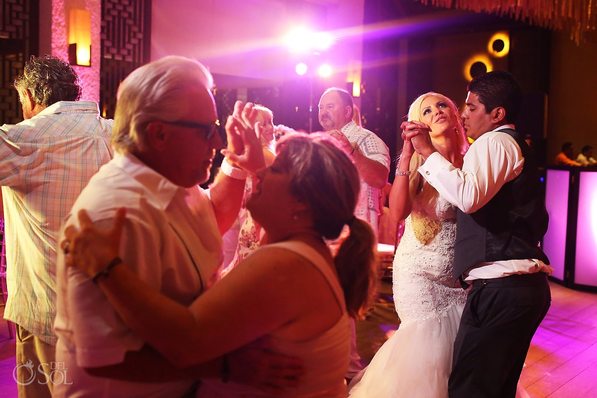 destination wedding reception Gabi Club Paradisus La Perla, Playa del Carmen, Mexico.