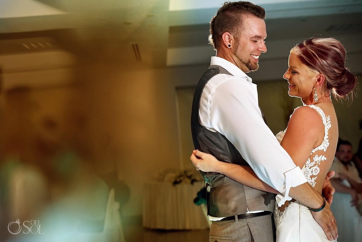 First dance destination wedding reception Hyatt Zilara Ballroom Cancun Mexico
