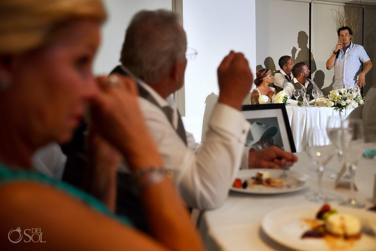 Speeches destination wedding reception Hyatt Zilara Ballroom Cancun Mexico