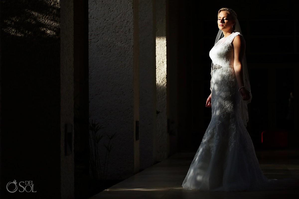 beautiful bridal portrait Destination Wedding Paradisus Gabi Bridge