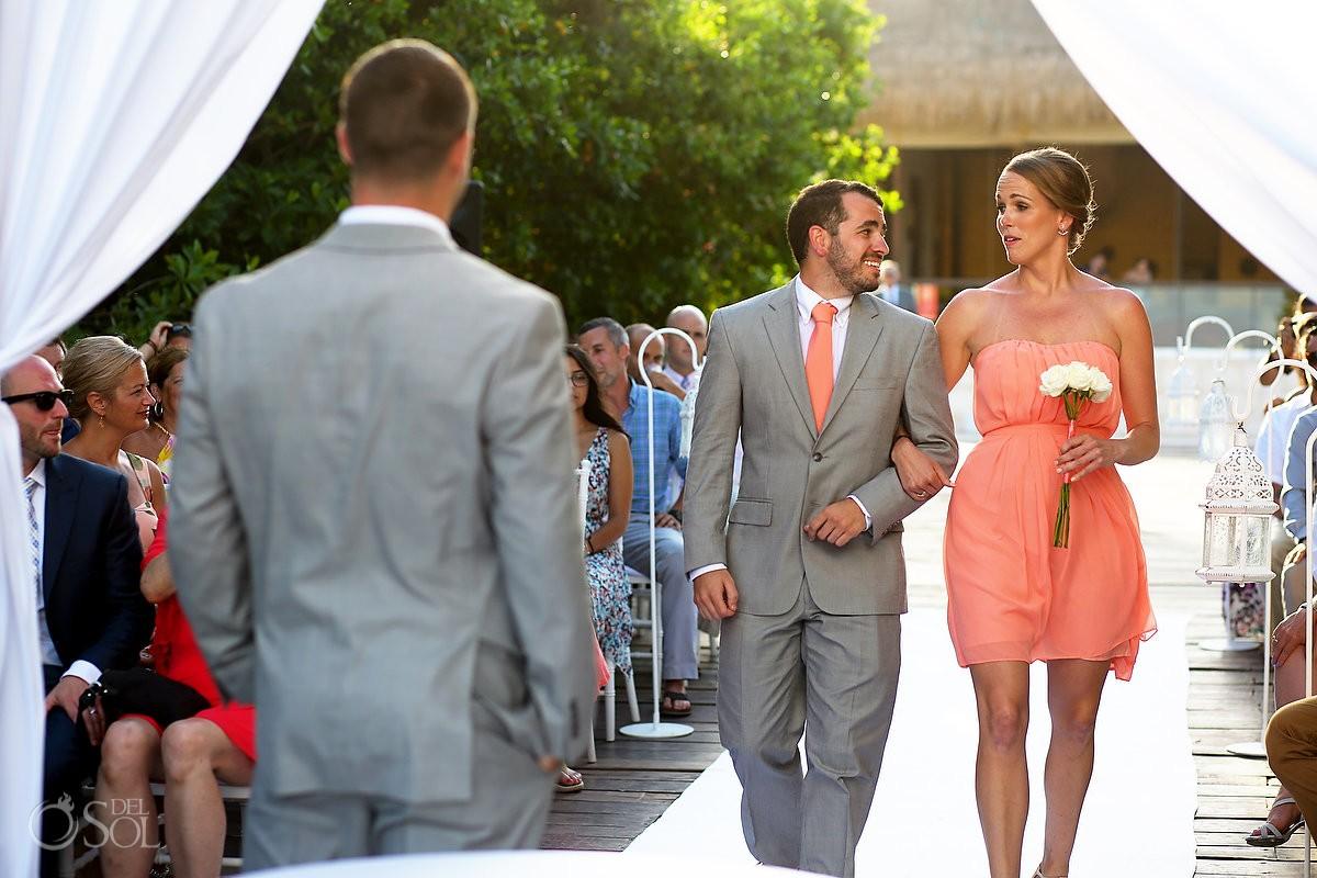 fun wedding part entrance Destination Wedding Paradisus Gabi Bridge