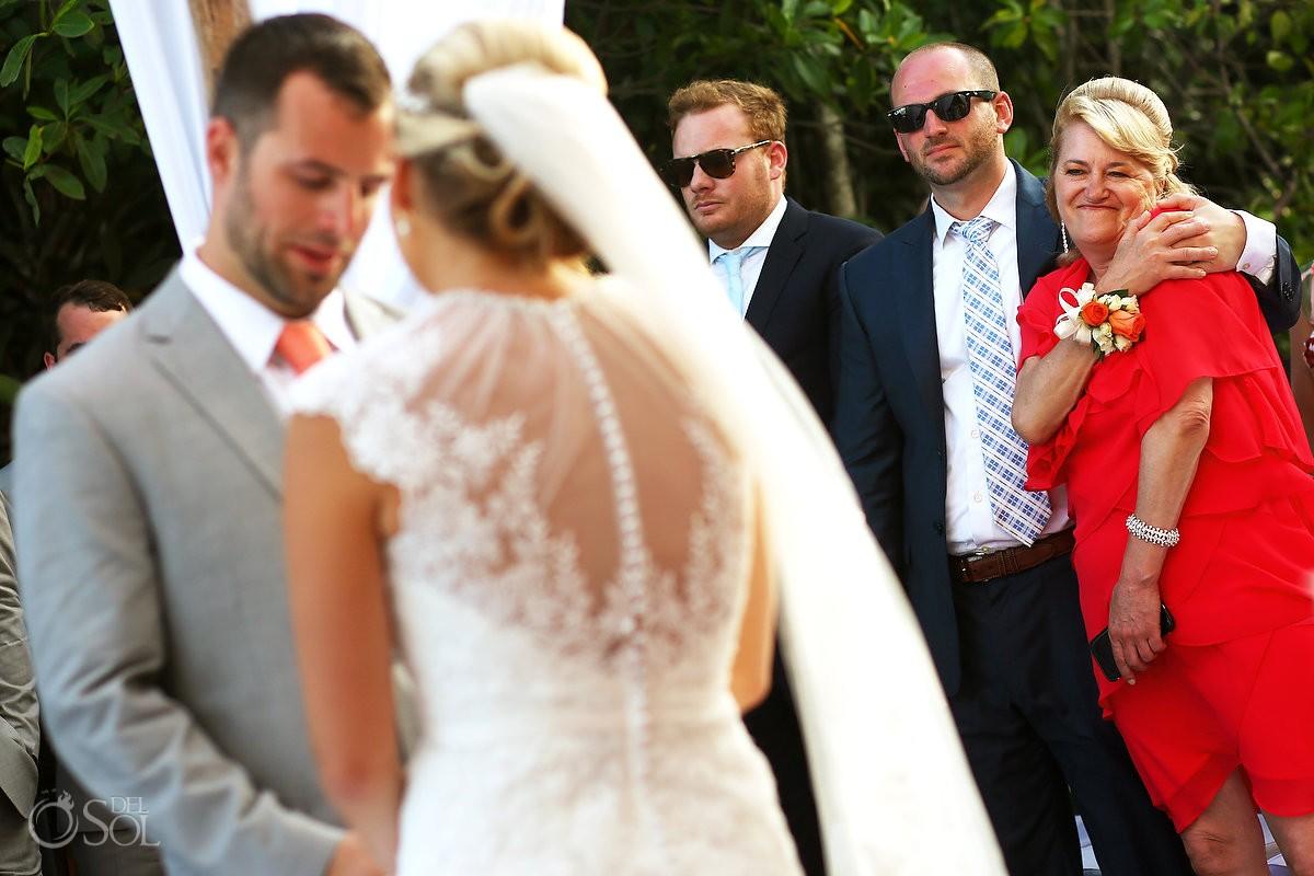 mother of the groom crying, Destination Wedding Paradisus Gabi Bridge