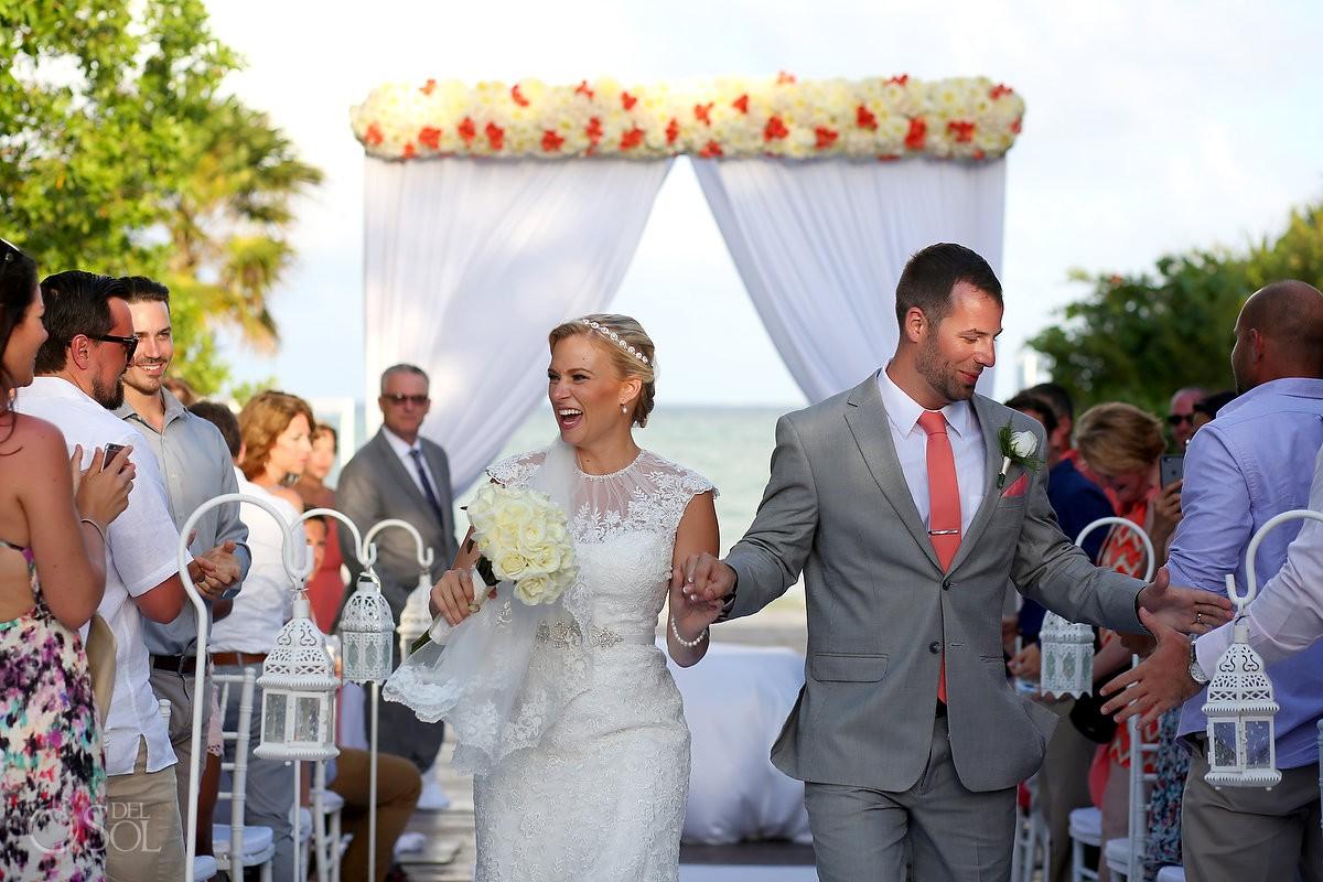 wedding ceremony exit celebration Paradisus Gabi Bridge