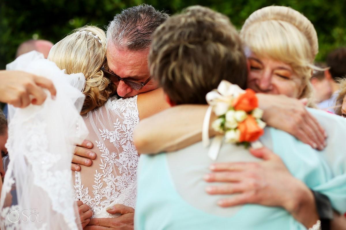 family love hugs Destination Wedding Paradisus Gabi Bridge