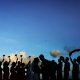 creative wedding party photo idea, silhouette Destination Wedding Paradisus Gabi Bridge