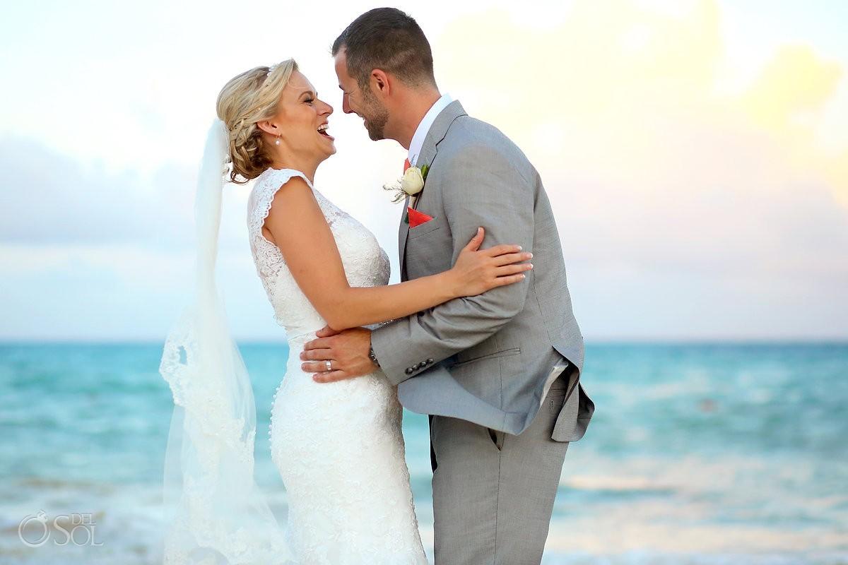 beach wedding portrait Paradisus la Esmeralda