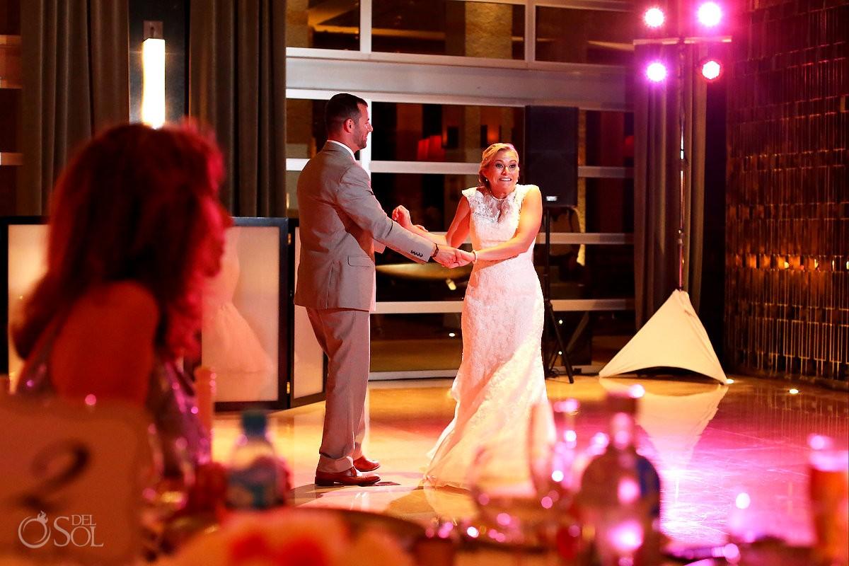 first dance destination wedding reception Paradisus Hadar restaurant