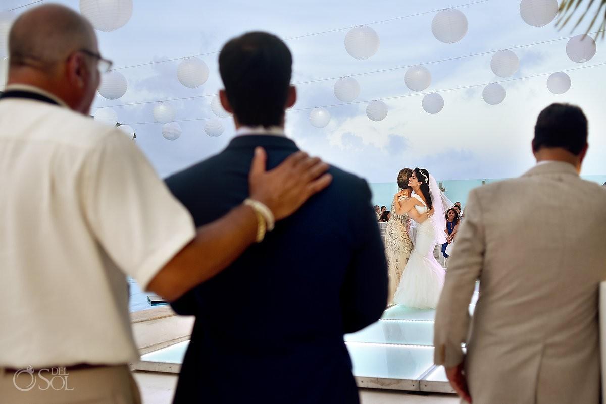 destination wedding reception first dance Beach Palace Cancun Sky Terrace