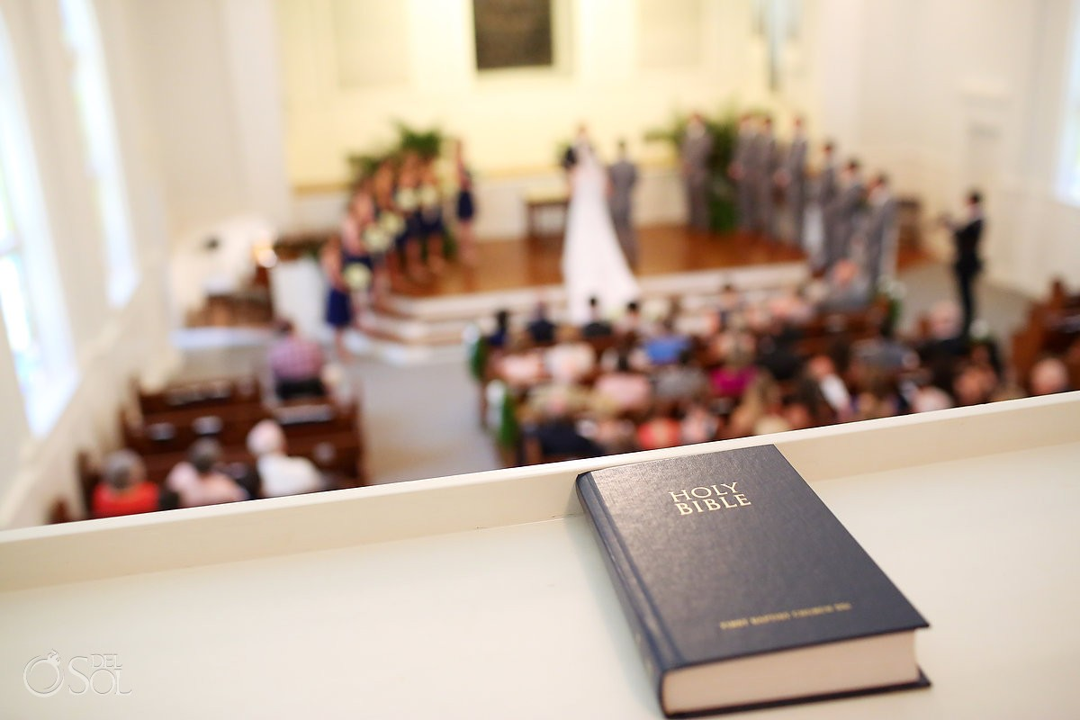 holy bible for a wedding at First Baptist St. Simons Church