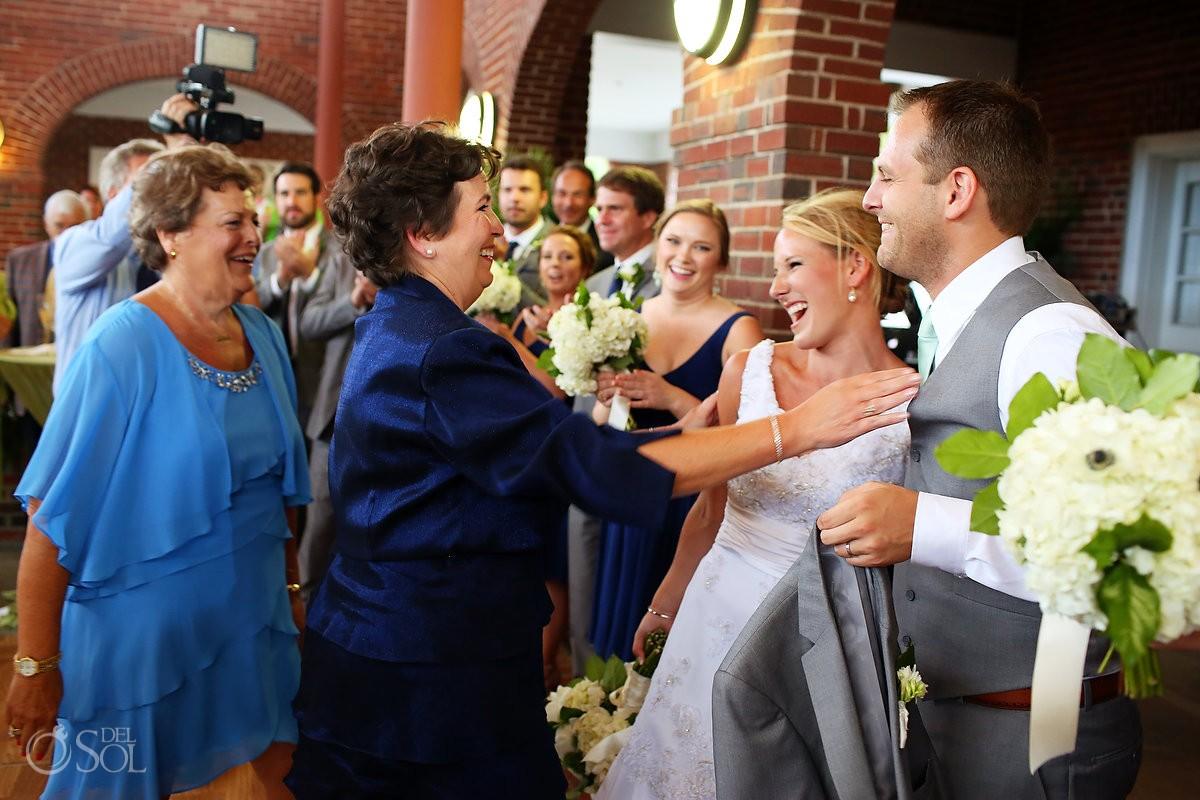 family celebration wedding reception at Casino Atrium - St. Simons Island, Georgia