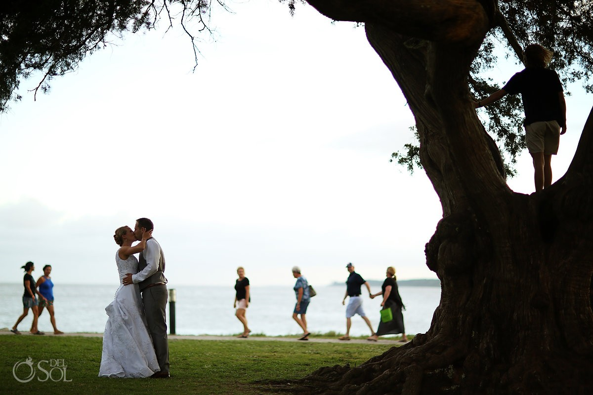 destination wedding photo of bride and groom on st simons island