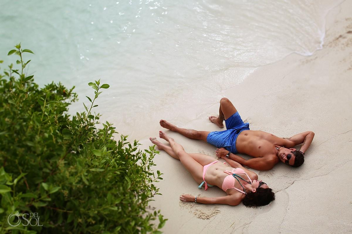 relax sunbathe beach boutique hotel Zoetry Villa Rolandi, Isla Mujeres, Cancun, Mexico