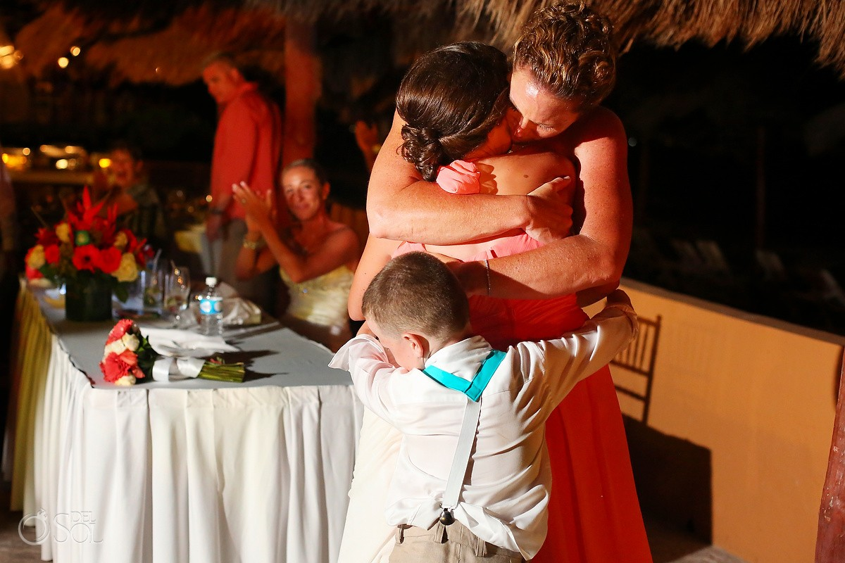 family love destination wedding reception