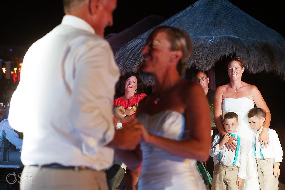 destination wedding reception dancing