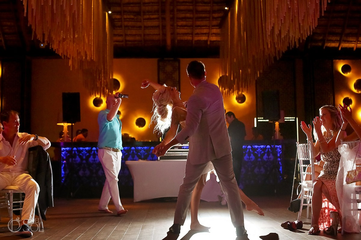 first dance destination wedding reception Gabi Club Paradisus La Perla, Playa del Carmen, Mexico