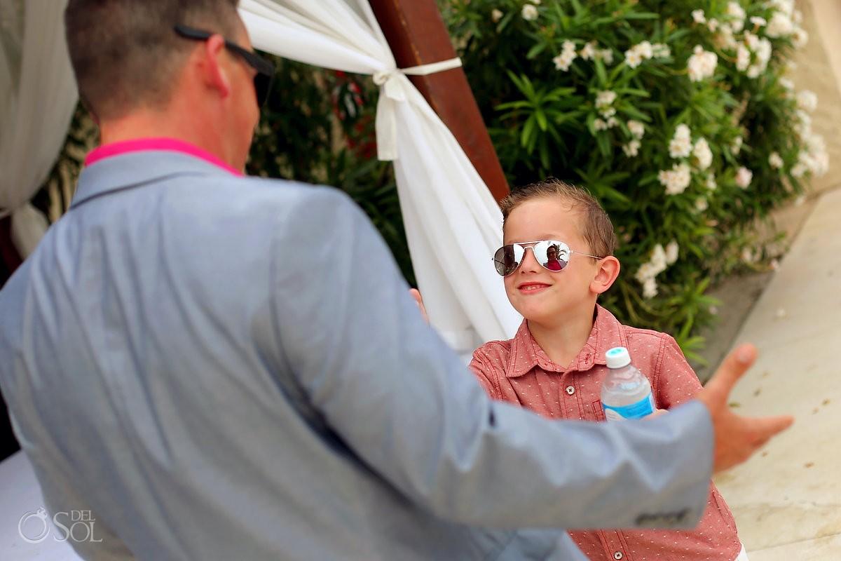 Kids weddings having fun Cancun, Mexico