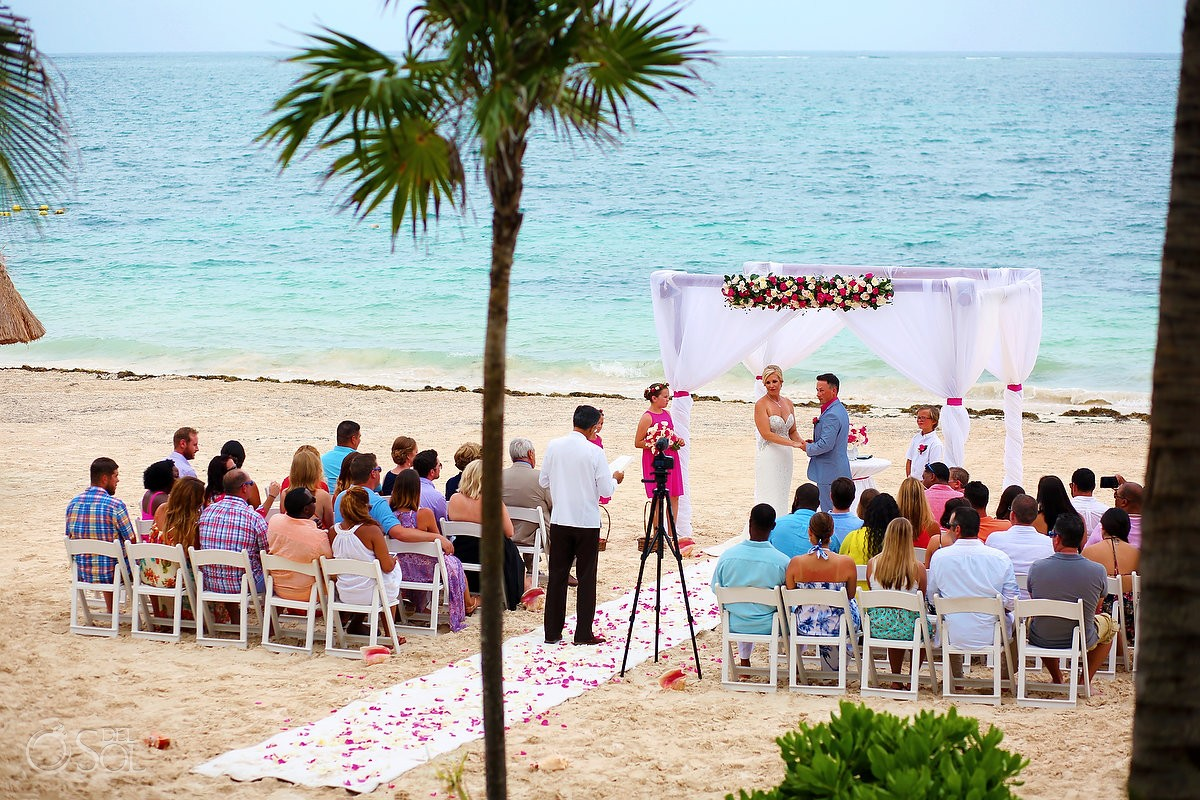 Gazebo wedding beach Cancun, Mexico, destination weddings