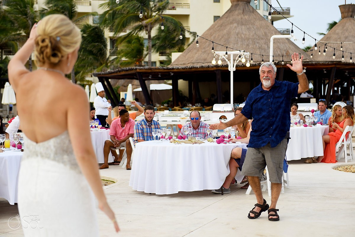 Father and daughter dance destination wedding Cancun, Mexico