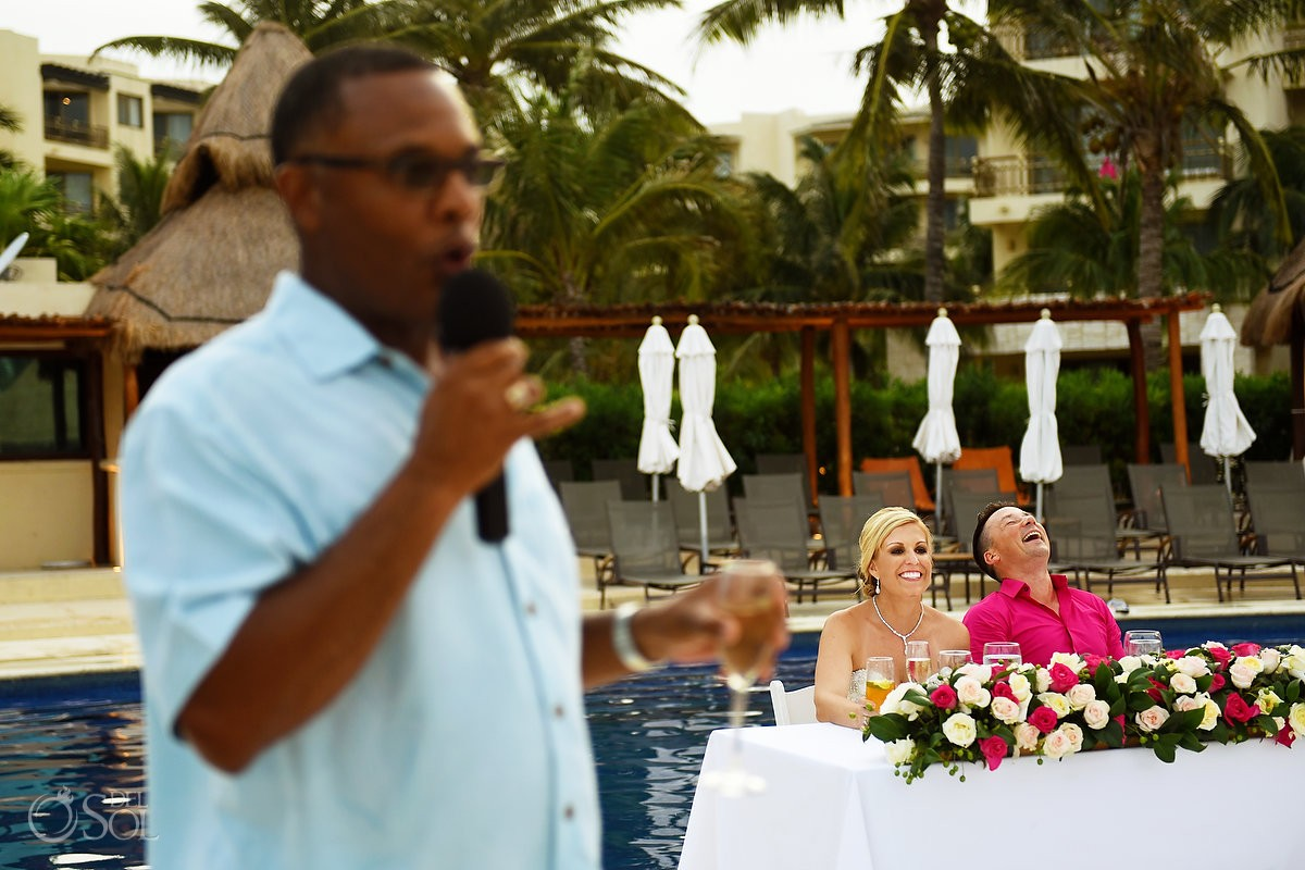 Funny speech at destination wedding Cancun, Mexico
