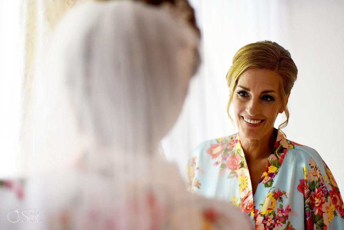 Bride getting ready bridal suite Paradisus La Esmeralda, Playa del Carmen, Mexico