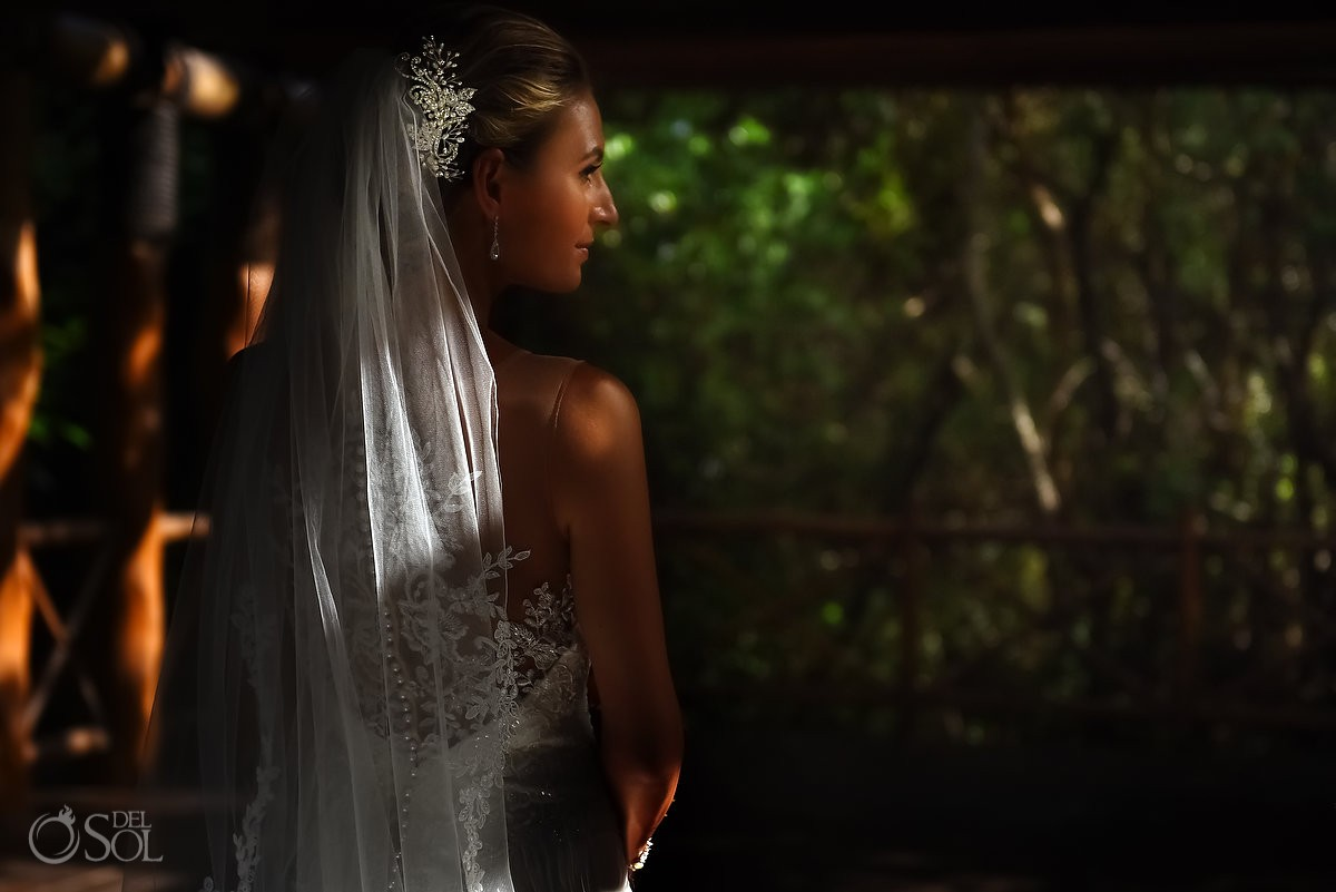 Bride portrait gazebo Paradisus La Esmeralda, Playa del Carmen, Mexico