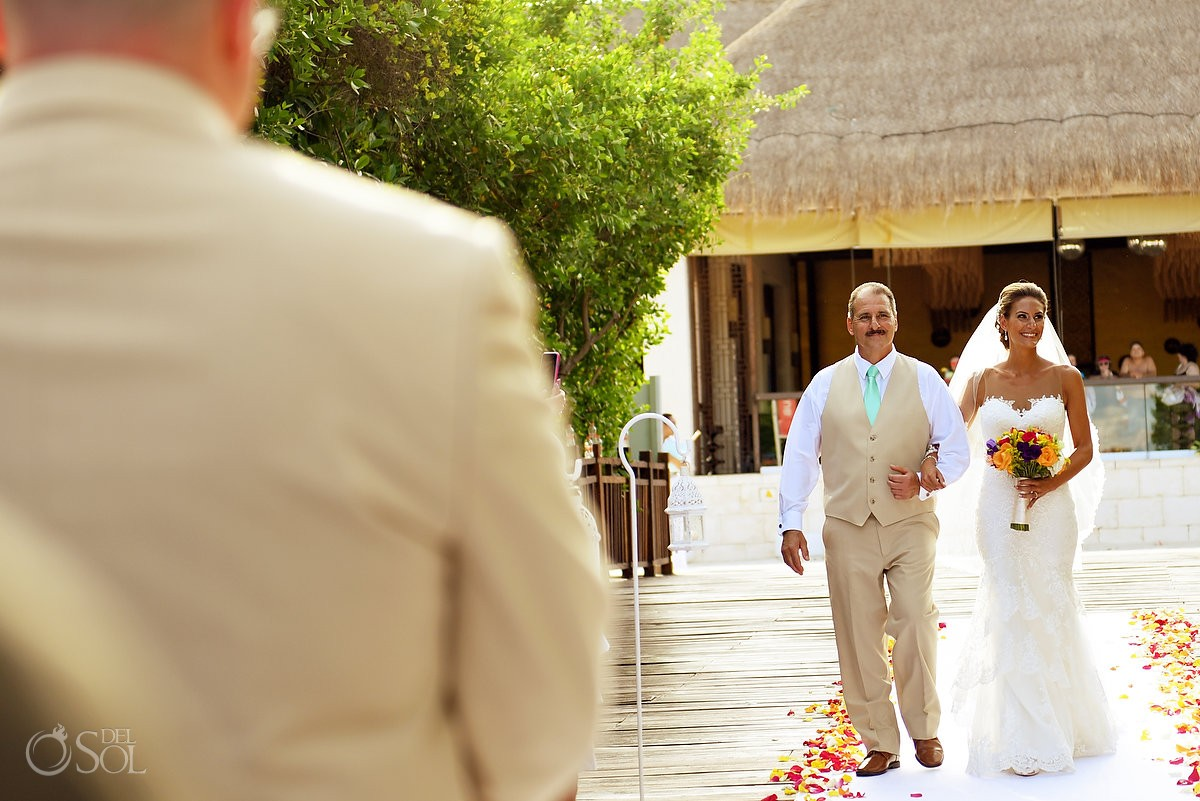 Bride entrance gabi bridge Paradisus La Esmeralda, Playa del Carmen, Mexico
