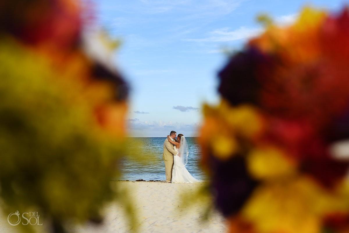 creative destination wedding portrait Paradisus La Esmeralda, Playa del Carmen, Mexico