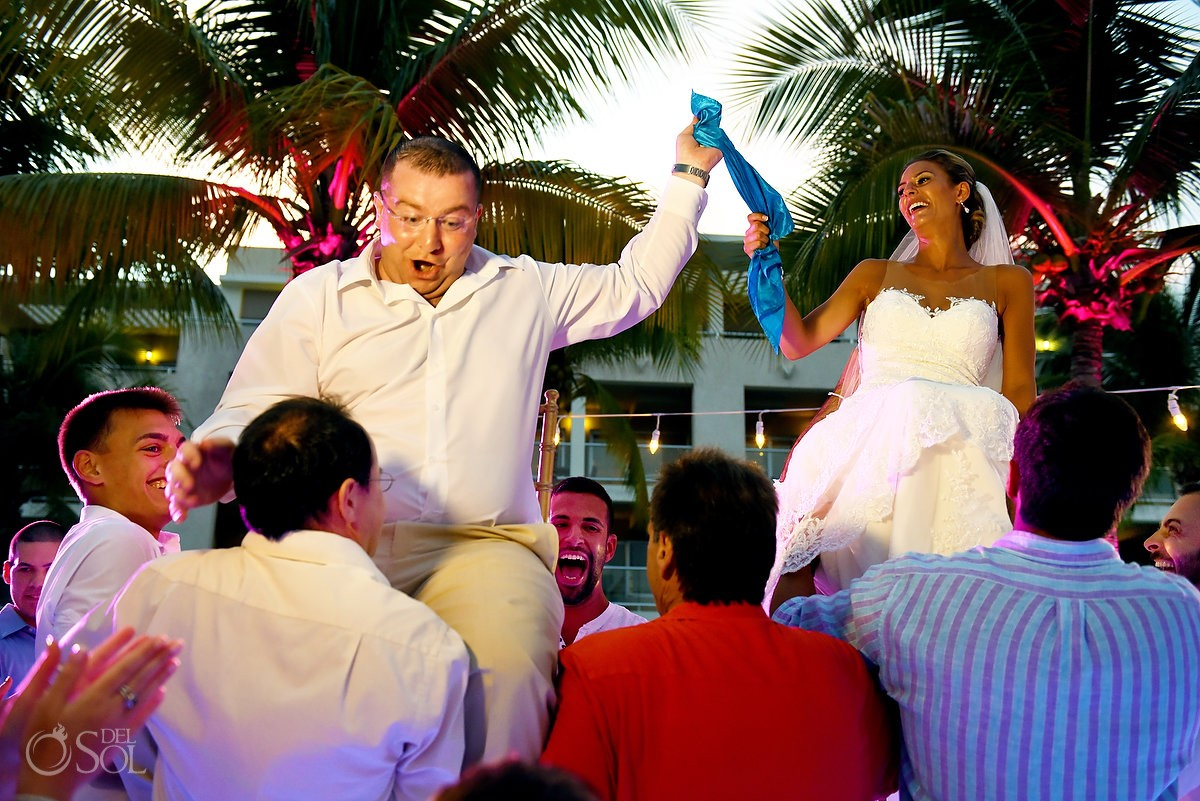 hora Jewish wedding tradition destination wedding reception The Solarium Paradisus La Esmeralda