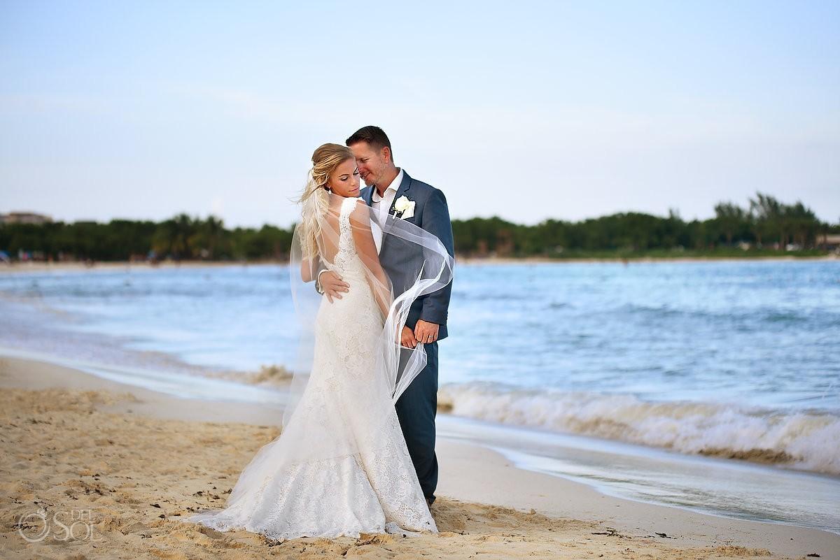 Destination Wedding beach portraits Paradisus La Esmeralda Playa del Carmen