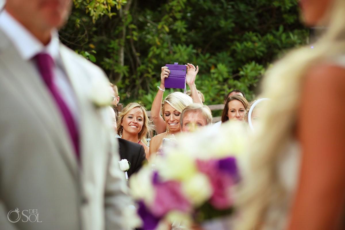 emotional wedding guest crying Gabi Bridge Paradisus La Perla