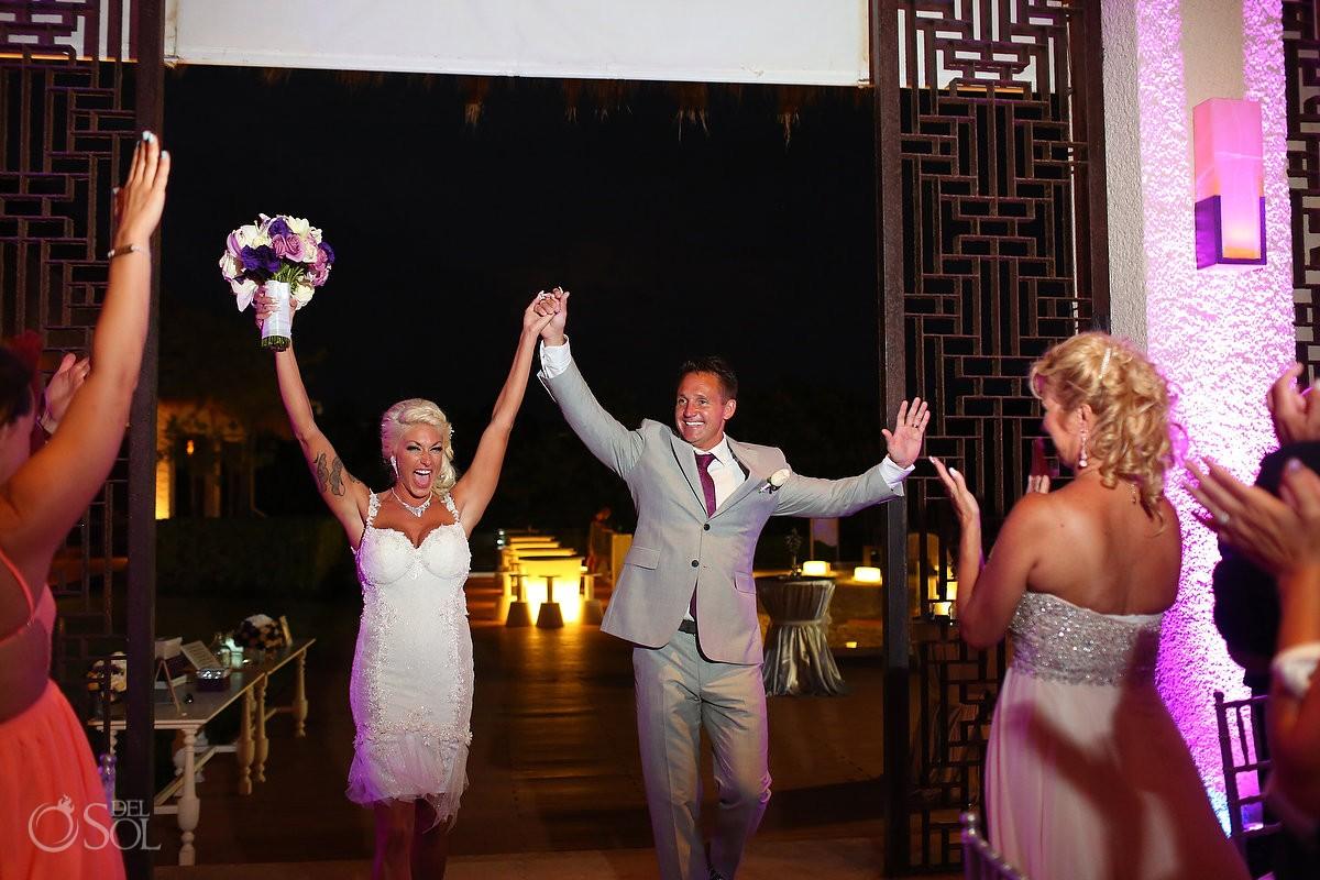 Destination Wedding reception entrance Gabi Club Paradisus La Perla, Playa del Carmen, Mexico