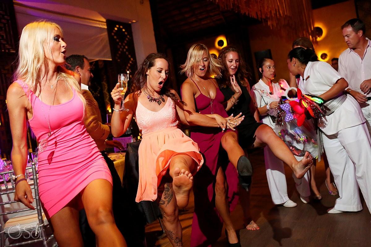 party time destination wedding reception Gabi Club Paradisus La Perla, Playa del Carmen, Mexico