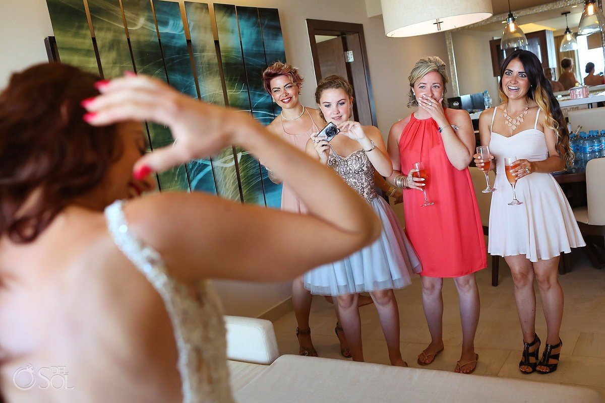 the big moment getting ready before wedding ceremony, Royalton Riviera Cancun, Mexico