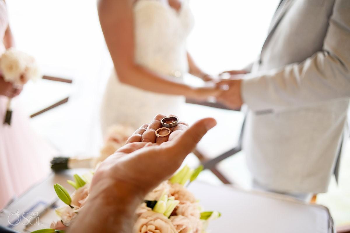 Wedding rings, Gazebo Destination Wedding Secrets Silversands Riviera Cancun, Mexico