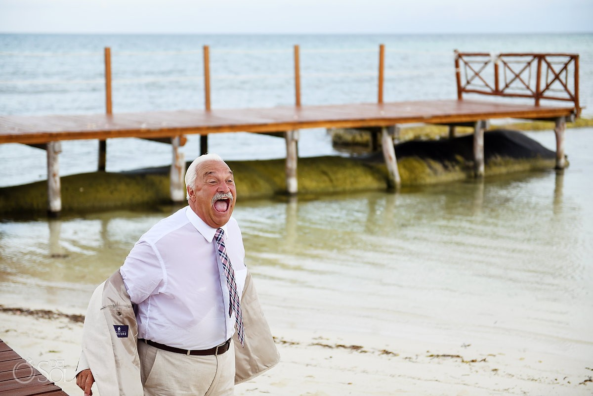 funny wedding photos Secrets Silversands Riviera Cancun, Mexico