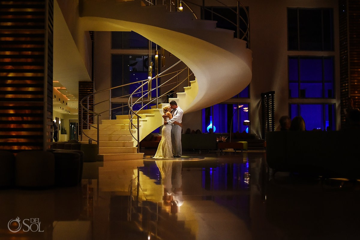 beautiful creative night wedding portrait, Destination Wedding Secrets Silversands Riviera Cancun, Mexico